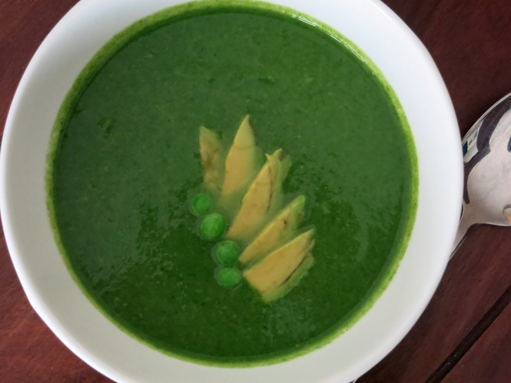 Spinat Avocado Suppe